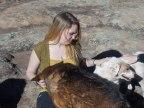 Emma Goos socializing dogs